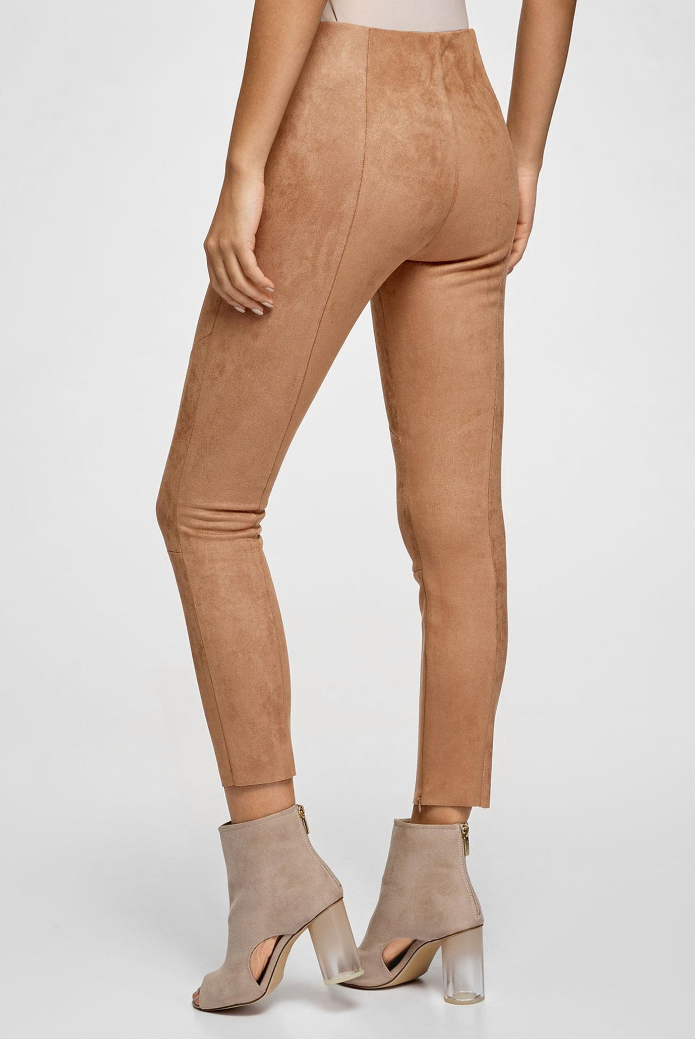 Женские бежевые брюки Oodji
