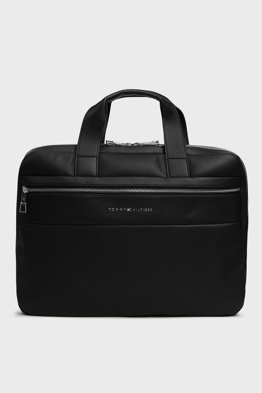 Мужская черная сумка для ноутбука NOVELTY MIX SLIM
