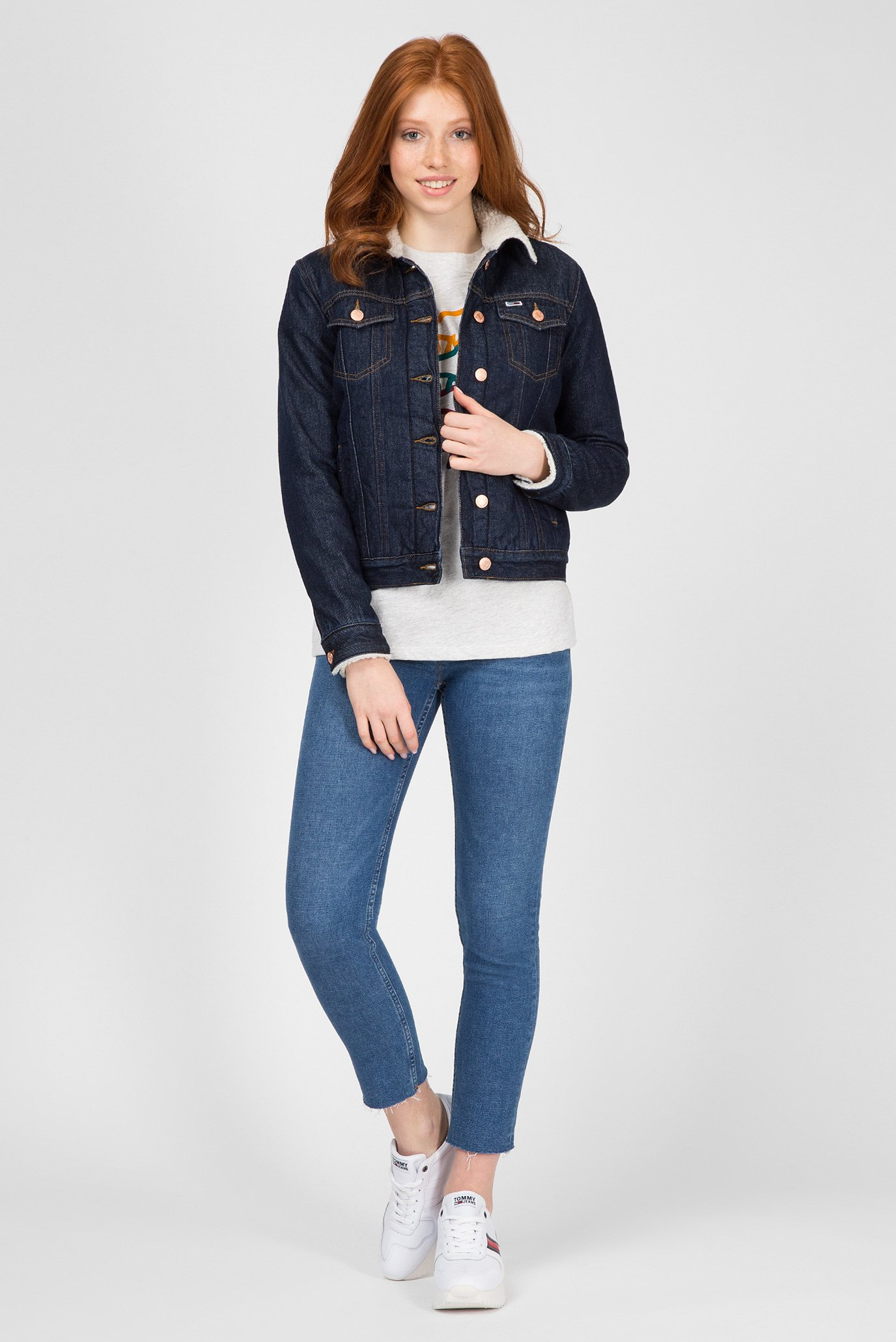 Купить Женская синяя джинсовая куртка Tommy Hilfiger Tommy Hilfiger DW0DW05342 – Киев, Украина. Цены в интернет магазине MD Fashion