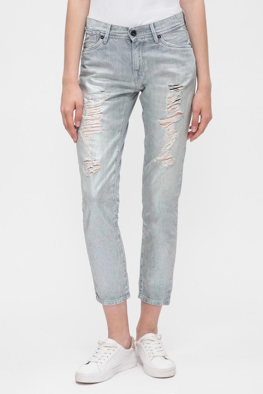 Женские серые джинсы JOEY HOLOGRAPHIC