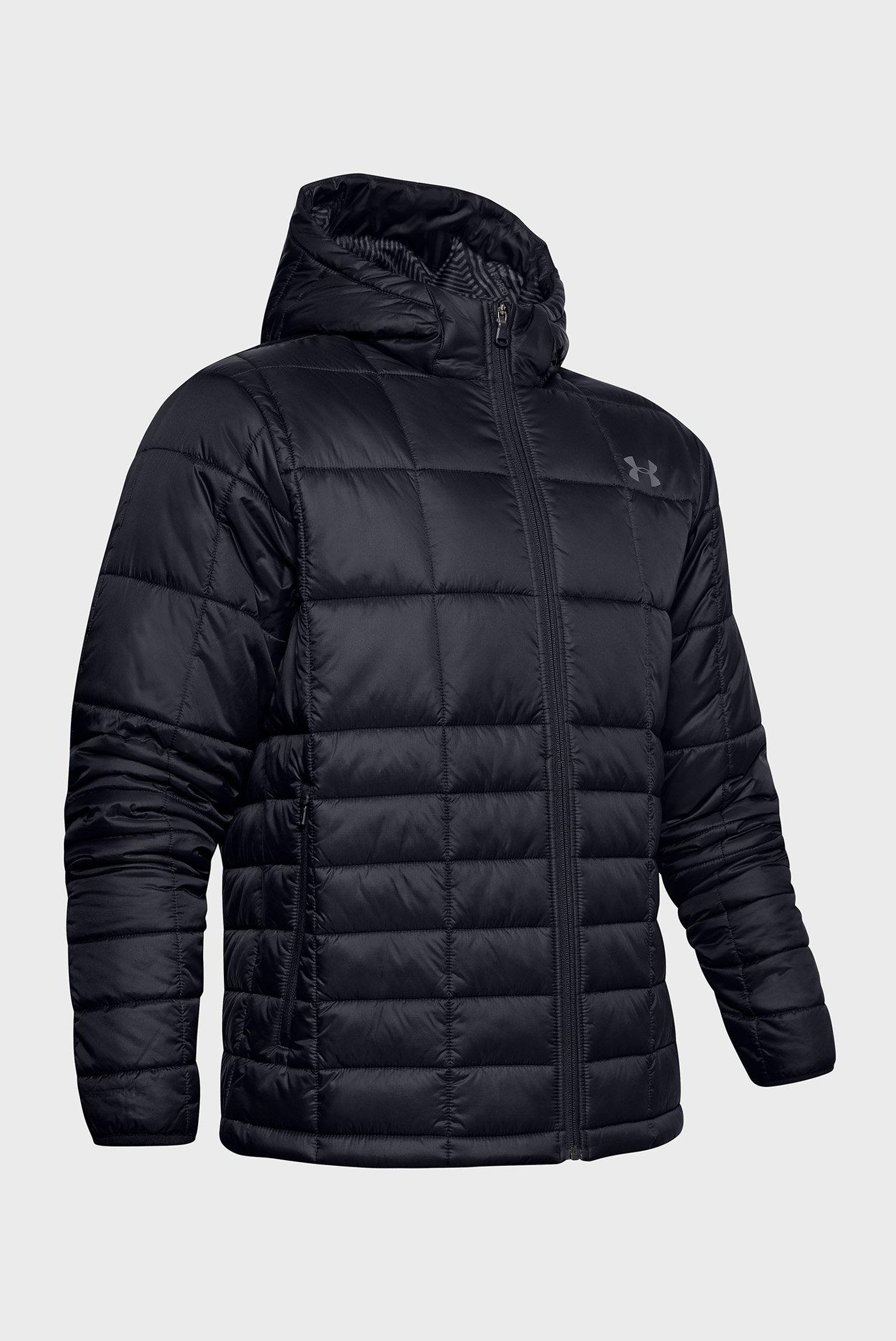 Мужская черная куртка UA Armour Insulated Hooded Under Armour