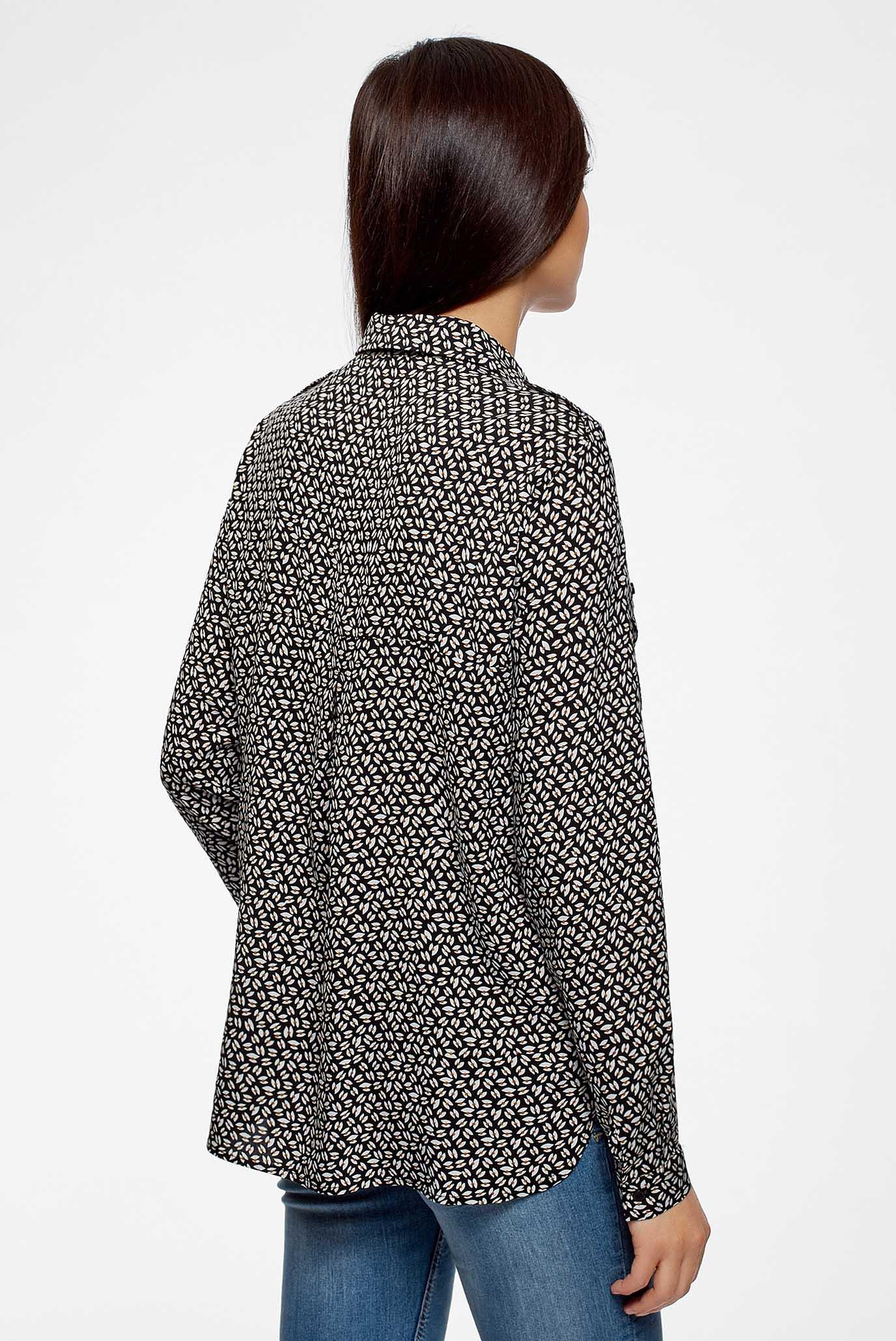 Купить Женская черная блуза Oodji Oodji 11411127B/26346/2933G – Киев, Украина. Цены в интернет магазине MD Fashion
