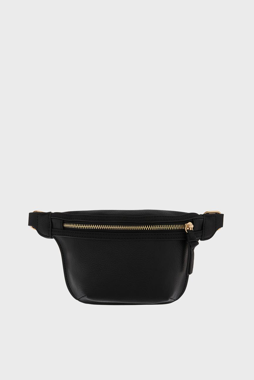 Женская черная поясная сумка FF BECKY