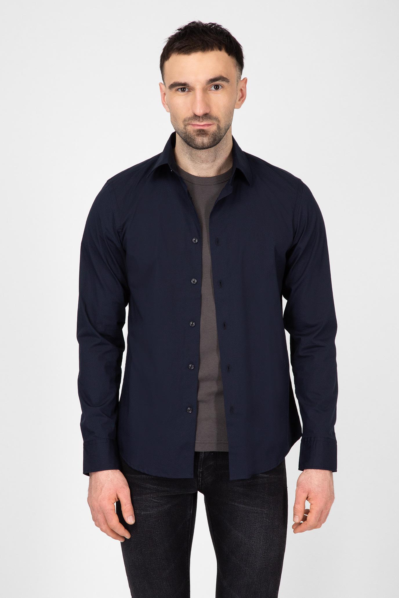 Мужская темно-синяя рубашка G-Star RAW