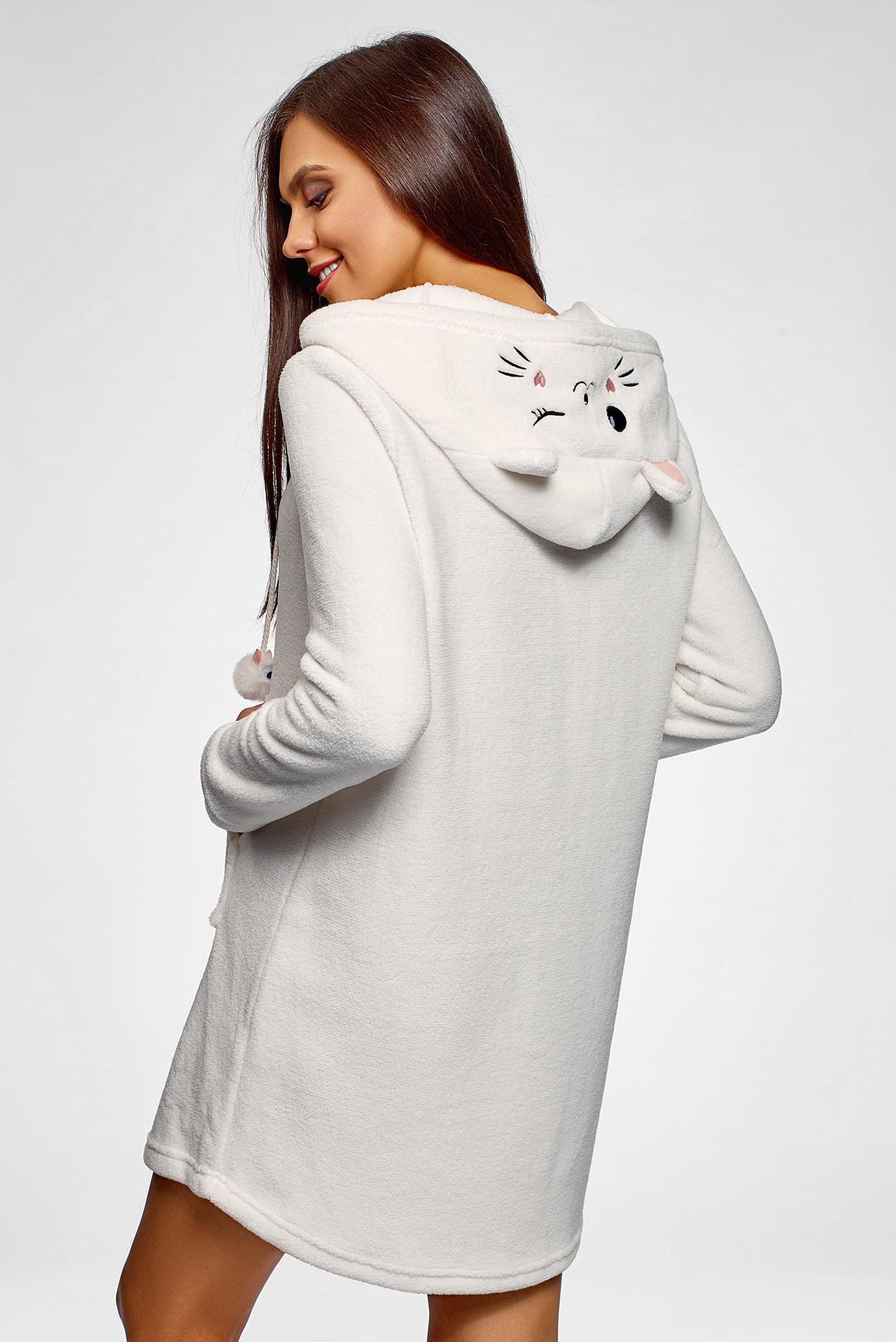Женская белое платье-худи Oodji