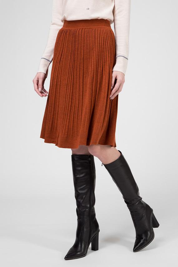 Женская рыжая шерстяная юбка