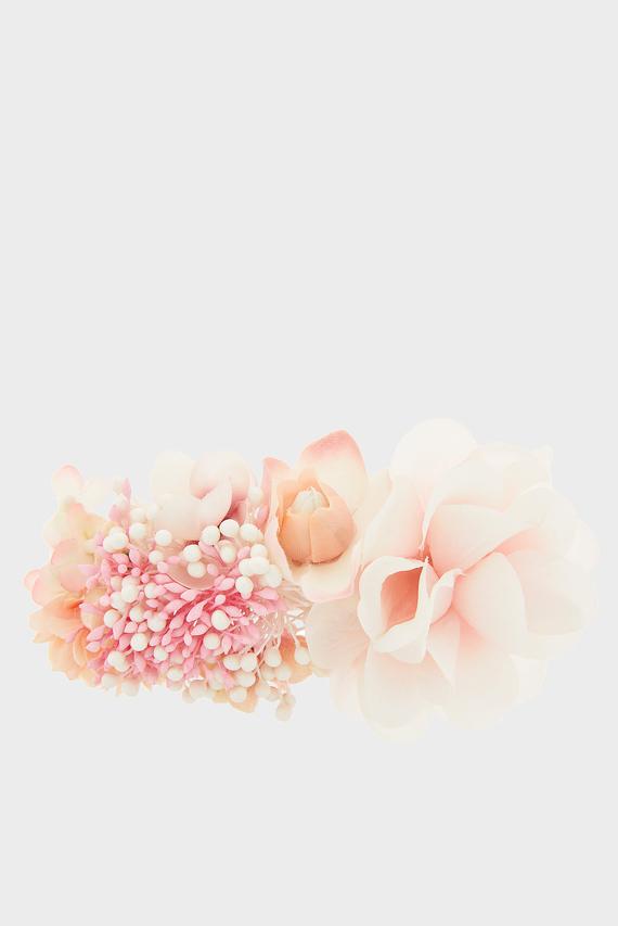 Женская розовая заколка TRIPLE BLOSSOM BARRETTE