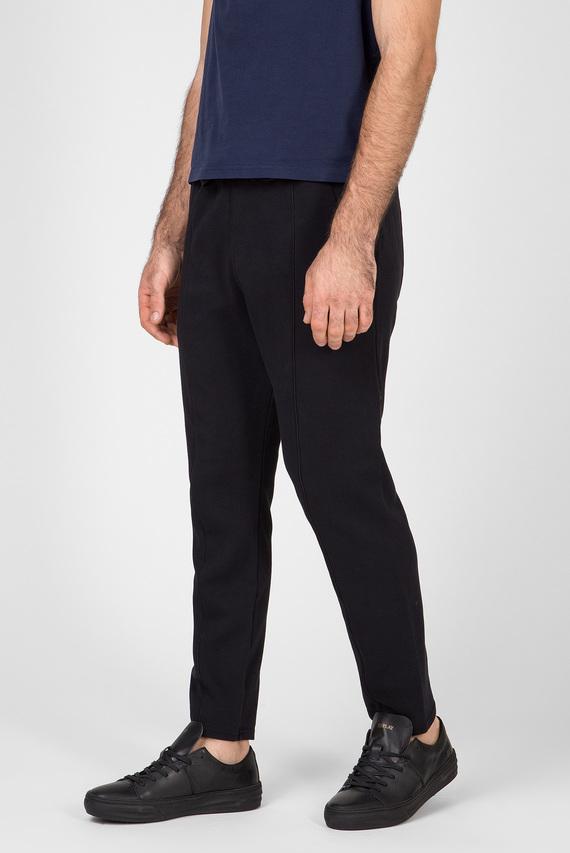 Мужские черные спортивные брюки Lanc slim tapered