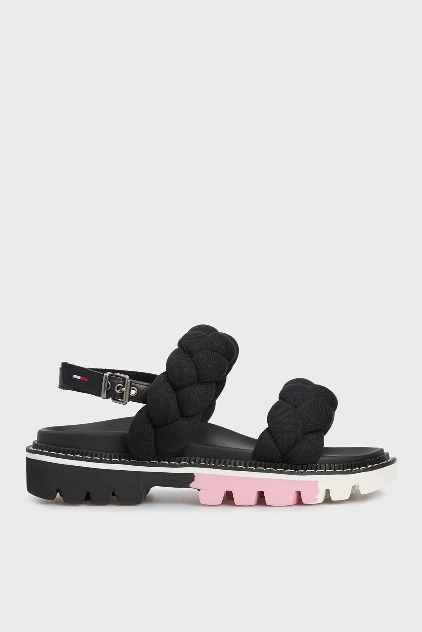 Женские черные сандалии BRAIDED STRAP 1