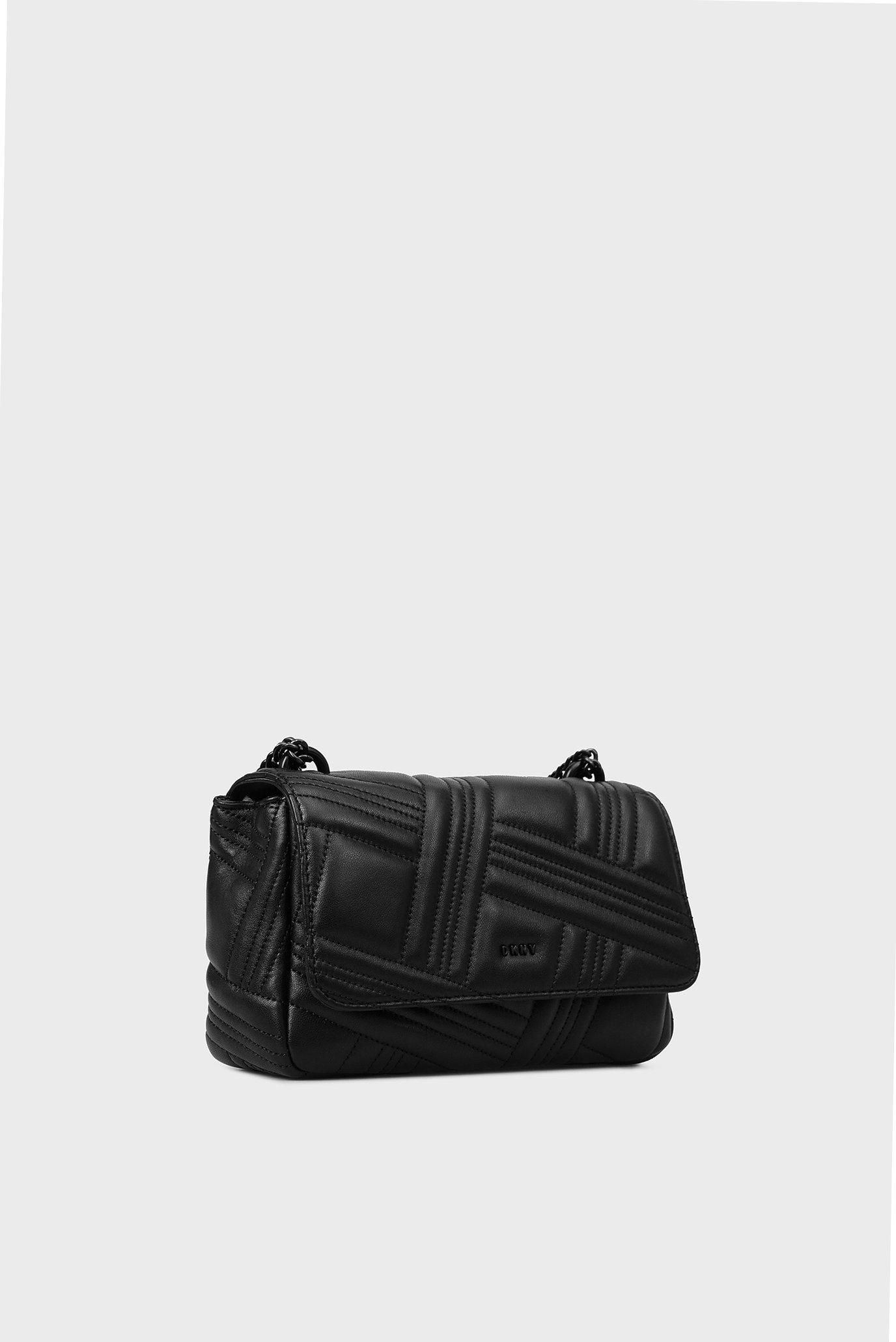 Купить Женская черная кожаная сумка через плечо DKNY DKNY R833B638 – Киев 310db5953ed06