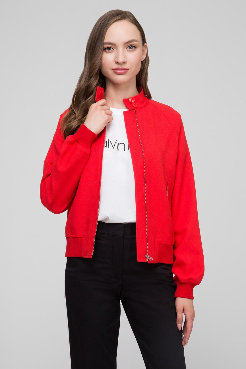 Женская красная куртка UNIFORM TWILL HARRINGTON