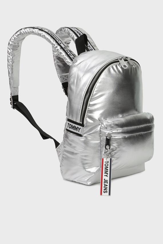 Женский серебристый рюкзак TJW LOGO TAPE MI BACKPACK SILVER