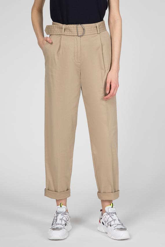 Женские бежевые брюки TH ESS PIMA COTTON TAPERED