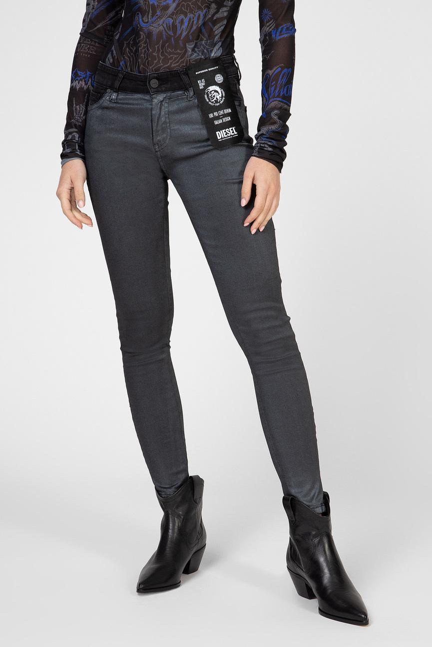 Женские серебристые джинсы SLANDY-ZIP
