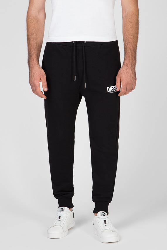 Мужские черные спортивные брюки P-TARY-LOGO