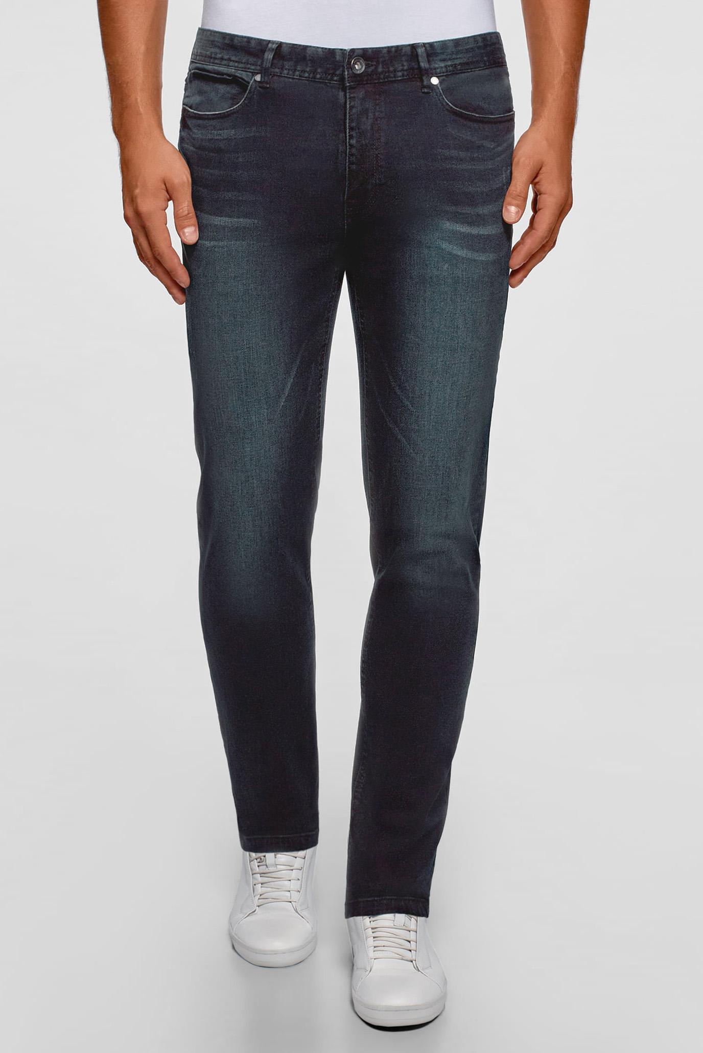 Купить Мужские темно-синие джинсы Oodji Oodji 6L120134M/46627/7800W – Киев, Украина. Цены в интернет магазине MD Fashion