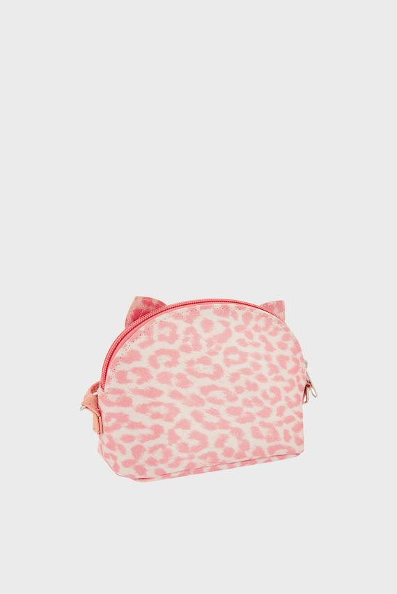 Детская розовая сумка через плечо LEOPARD PRINT CAT