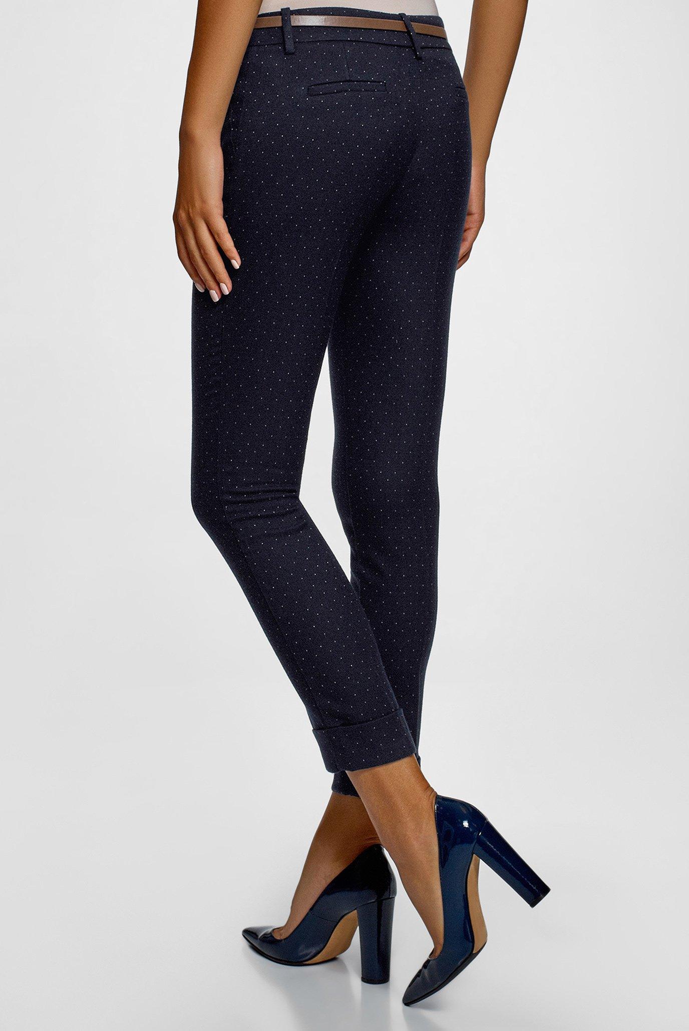 Женские синие брюки Oodji