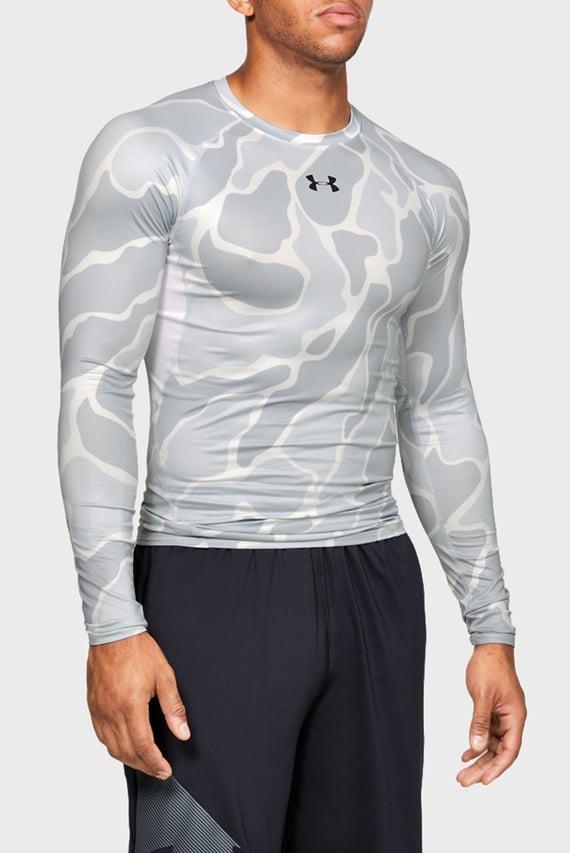 Мужской серый спортивный лонгслив с принтом UA HG ARMOUR LS NOV