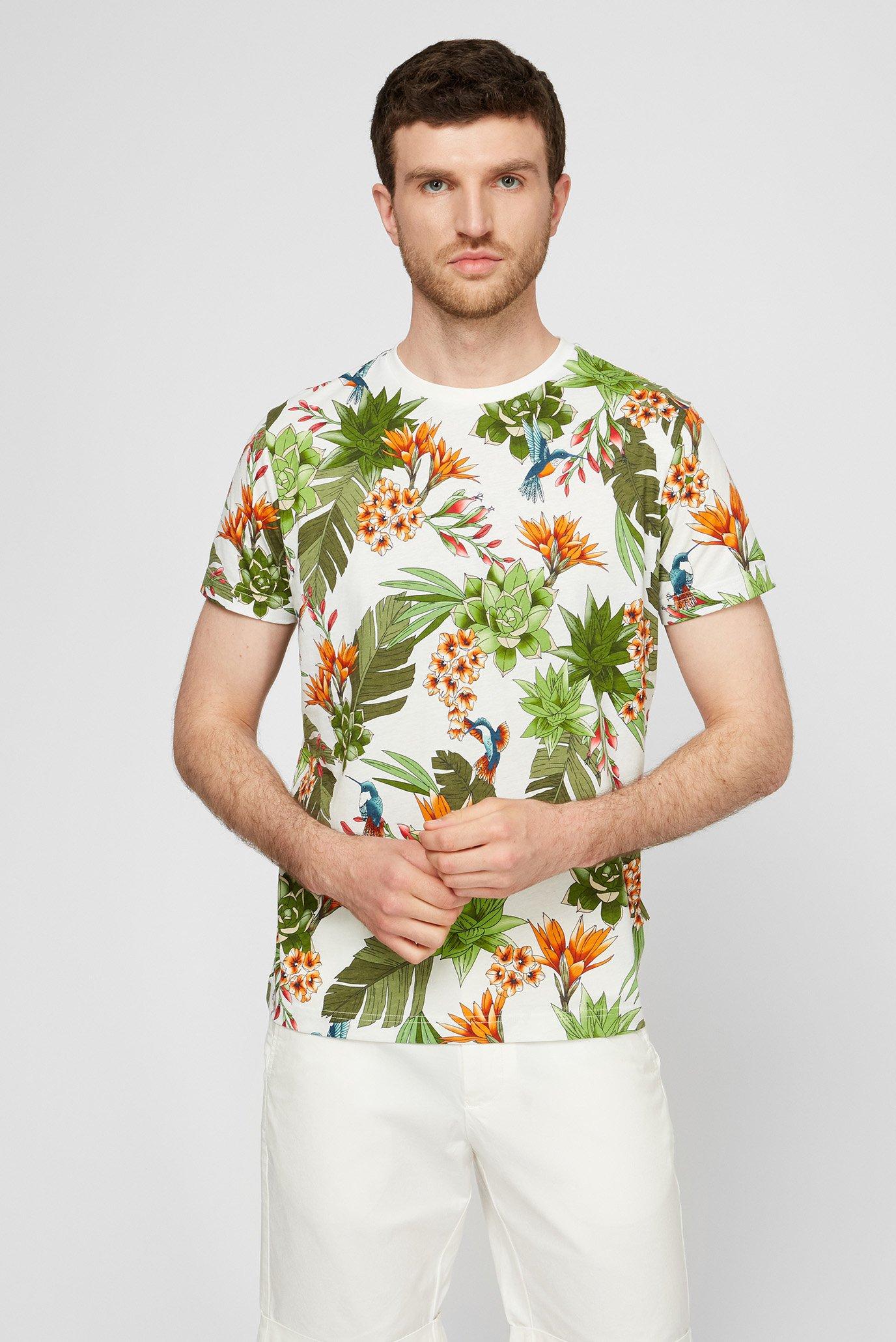 Чоловіча біла футболка HUMMING GARDEN 1