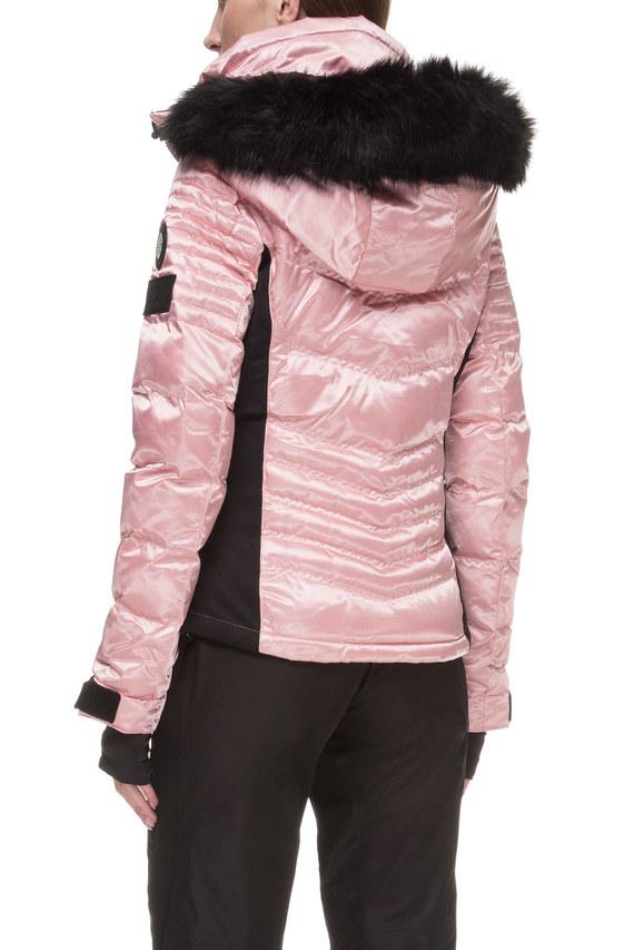 Женская розовая лыжная куртка с принтом Luxe Snow