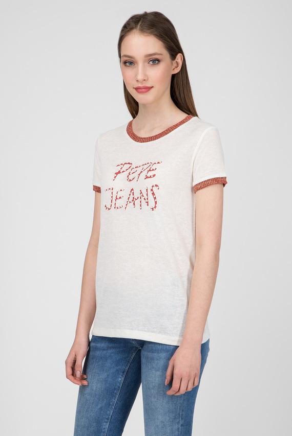 Женская молочная футболка CAITLIN