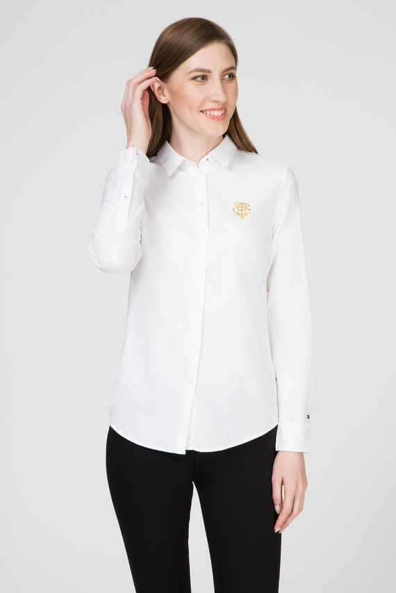 Женская белая рубашка TH ESSENTIAL OXFORD
