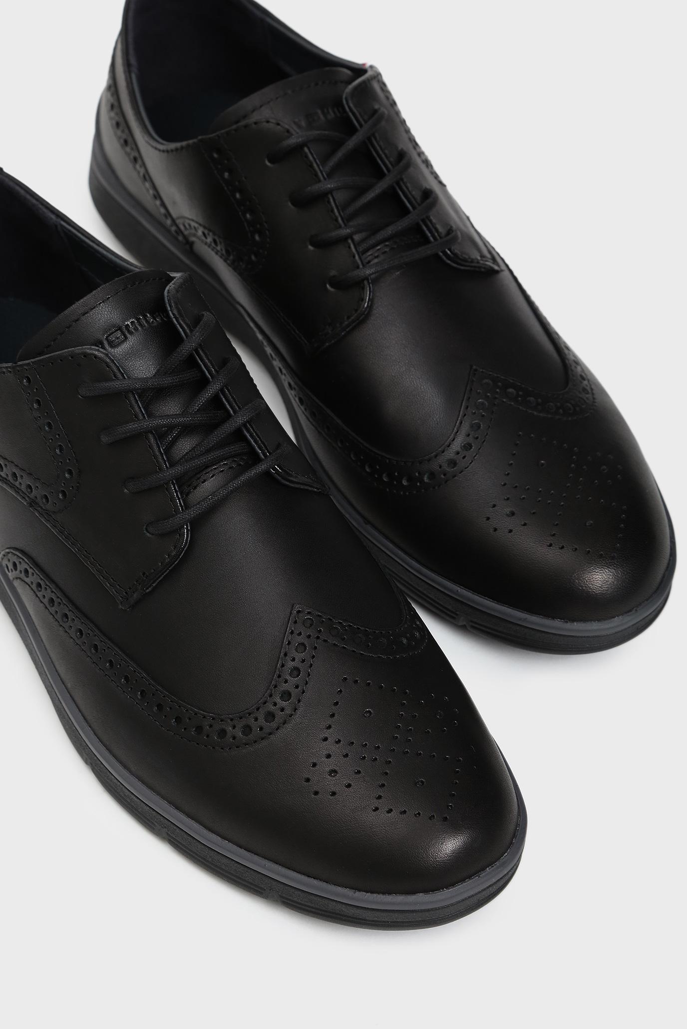 Мужские черные кожаные броги LIGHWEIGHT Tommy Hilfiger