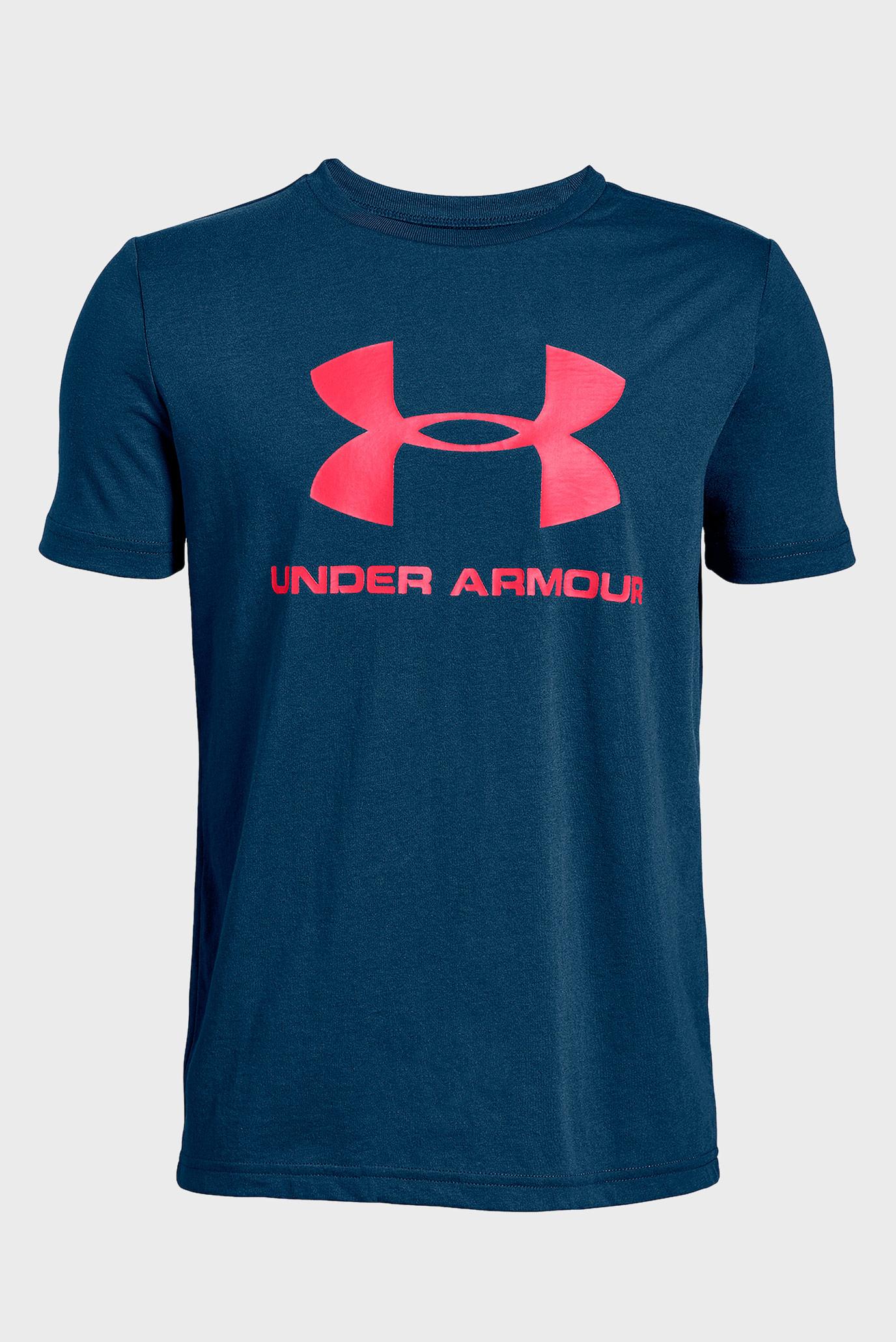 Купить Детская темно-синяя футболка Sportstyle Logo Under Armour Under Armour 1330893-437 – Киев, Украина. Цены в интернет магазине MD Fashion