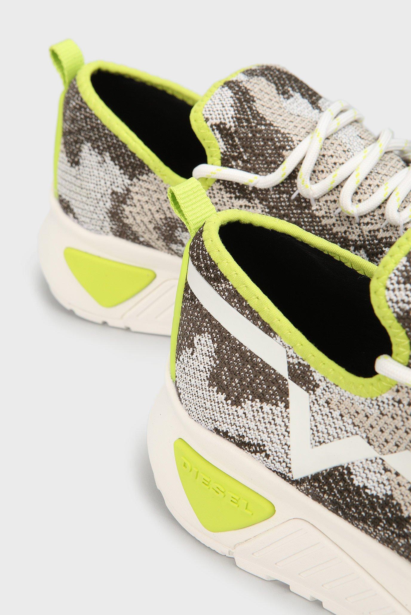 Купить Мужские зеленые камуфляжные кроссовки  Diesel Diesel Y01534 P1349 – Киев, Украина. Цены в интернет магазине MD Fashion