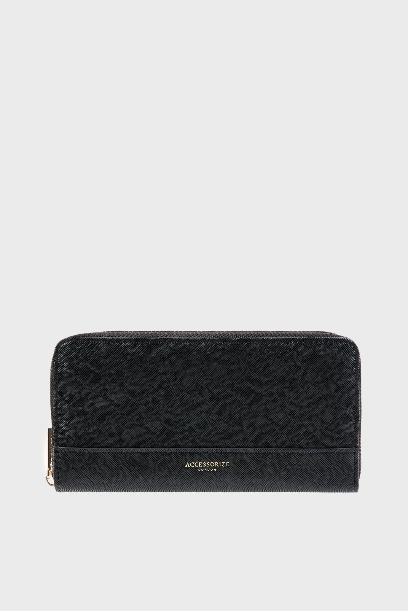 Женский черный кошелек LARGE ZIP 1