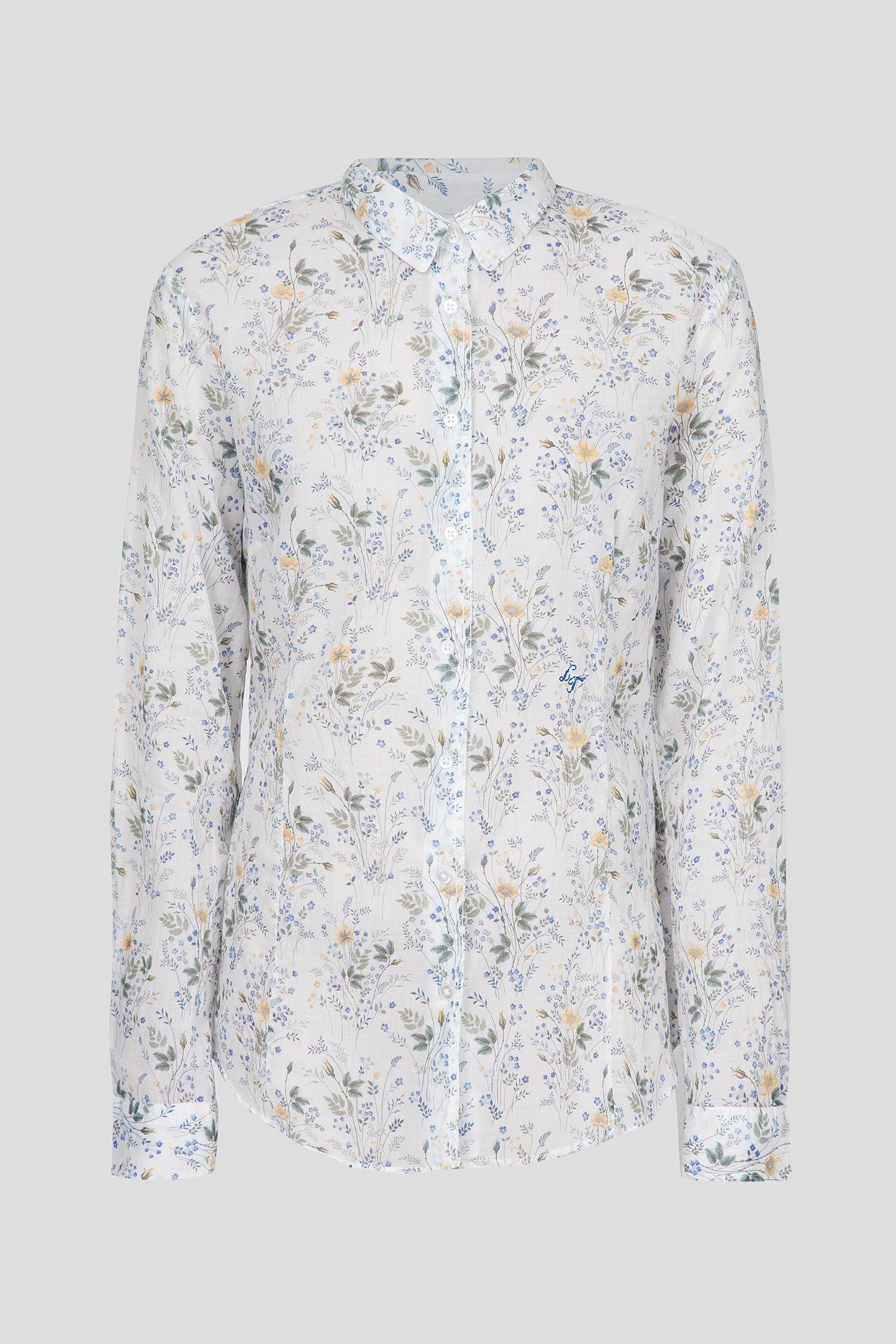 Женская белая рубашка с принтом Luis Trenker