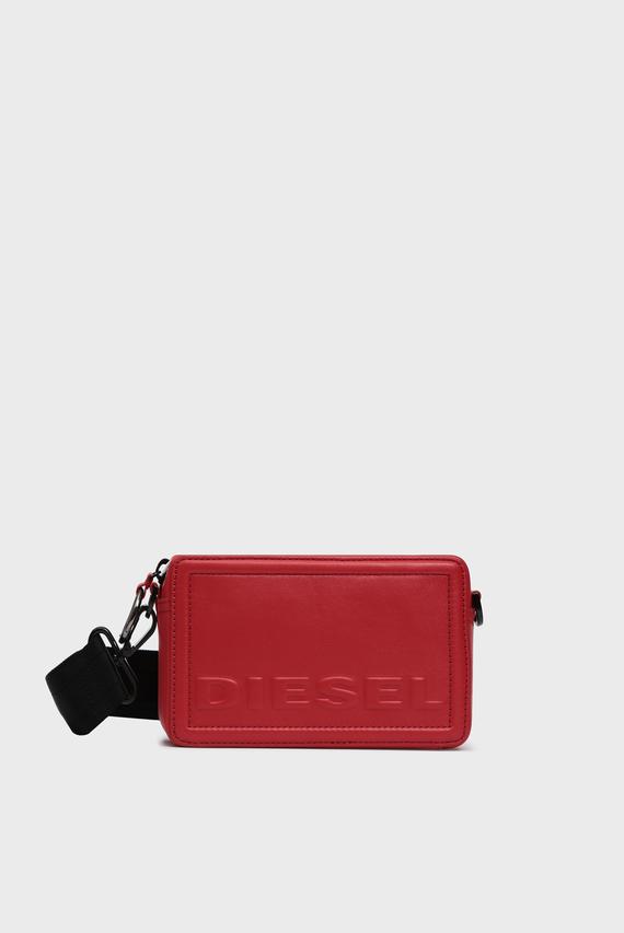 Жіноча червона шкіряна сумка через плече KUB8 / ROSA