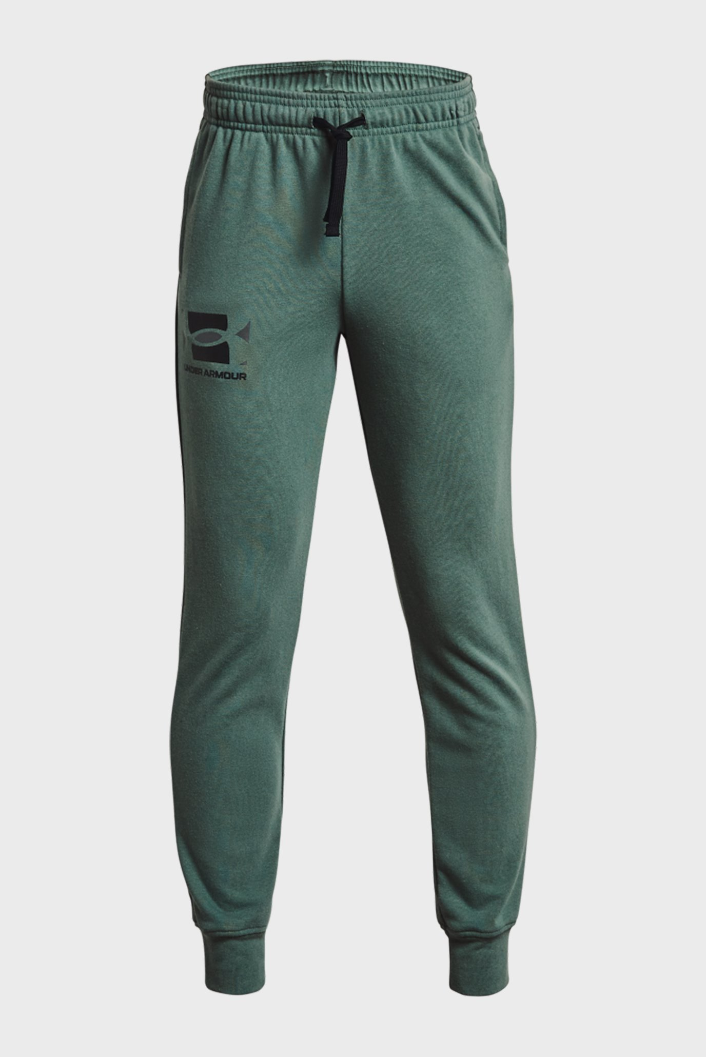 Дитячі зелені спортивні штани UA RIVAL TERRY PANTS 1