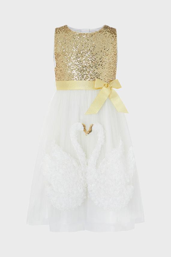 Детское платье с аппликацией SWARA SWAN