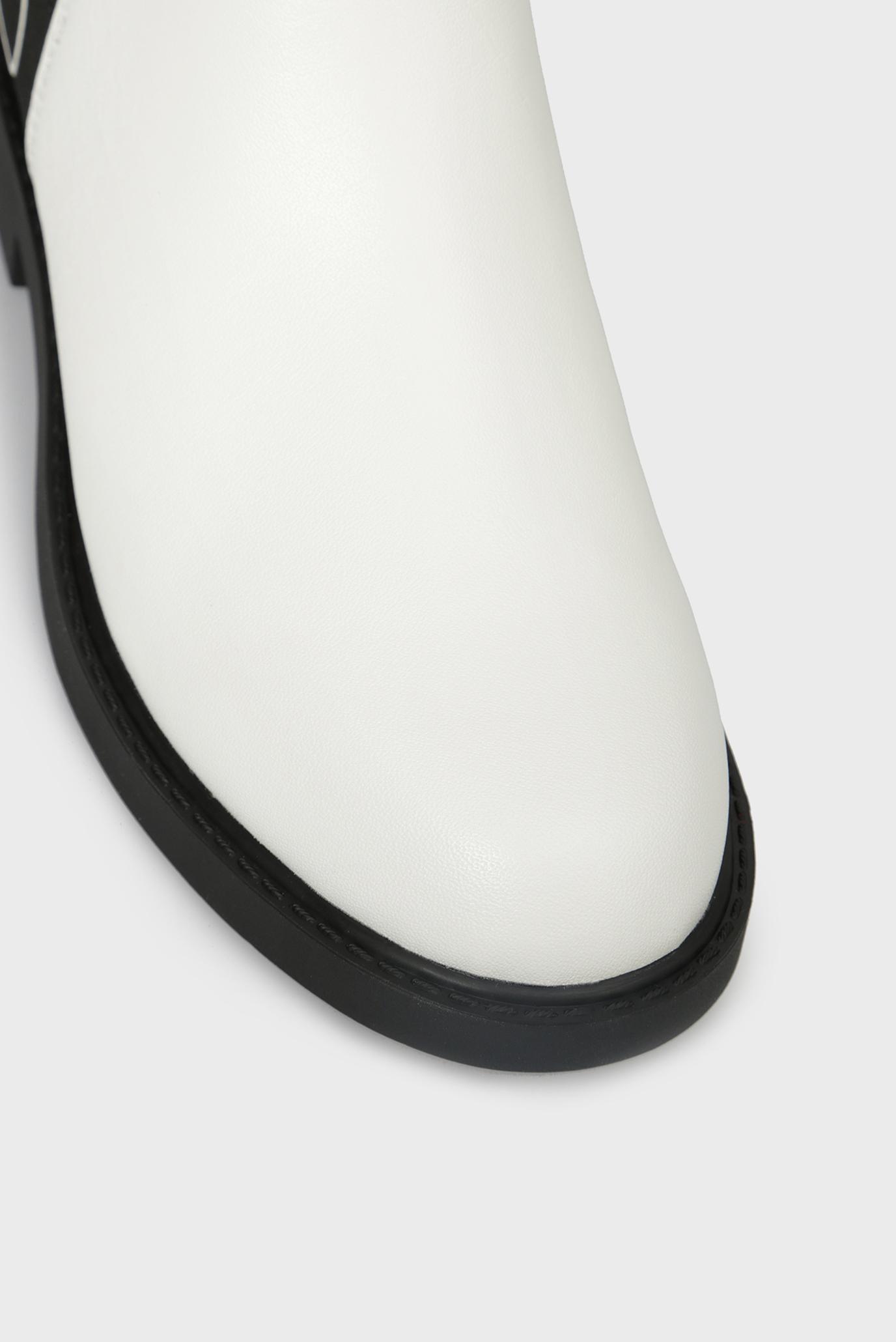 44b6c90b2 Купить Женские белые кожаные ботинки YOSHI SHINY Calvin Klein Calvin Klein  E7447 – Киев, Украина. Цены в ...
