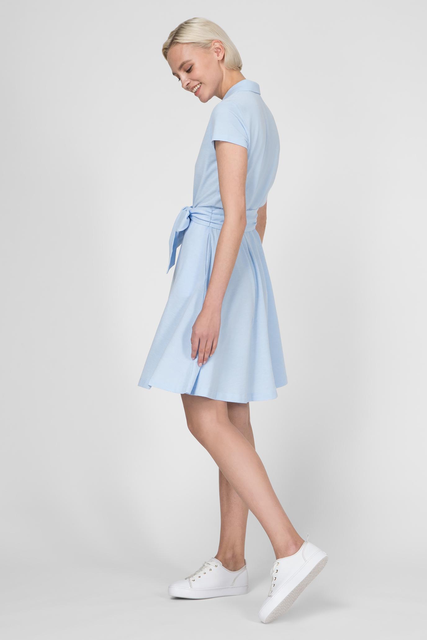 Женское голубое платье-поло OXFORD PIQUE Gant
