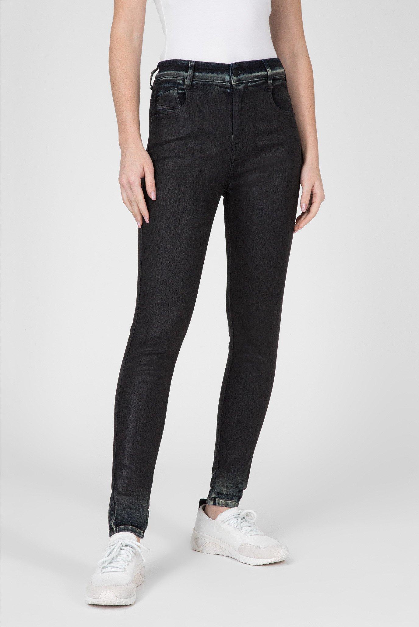Женские черные джинсы SLANDY-HIGH 1