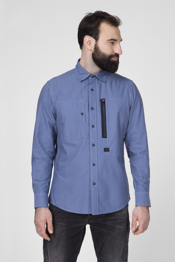 Мужская синяя рубашка Powel Slim