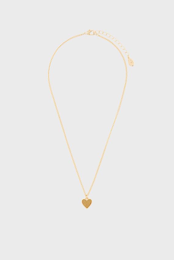 Женская золотистая подвеска GLITTER HEART PENDAN