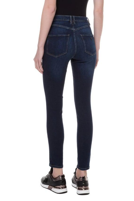 Женские синие джинсы SUPER HIGH RISE SKINNY