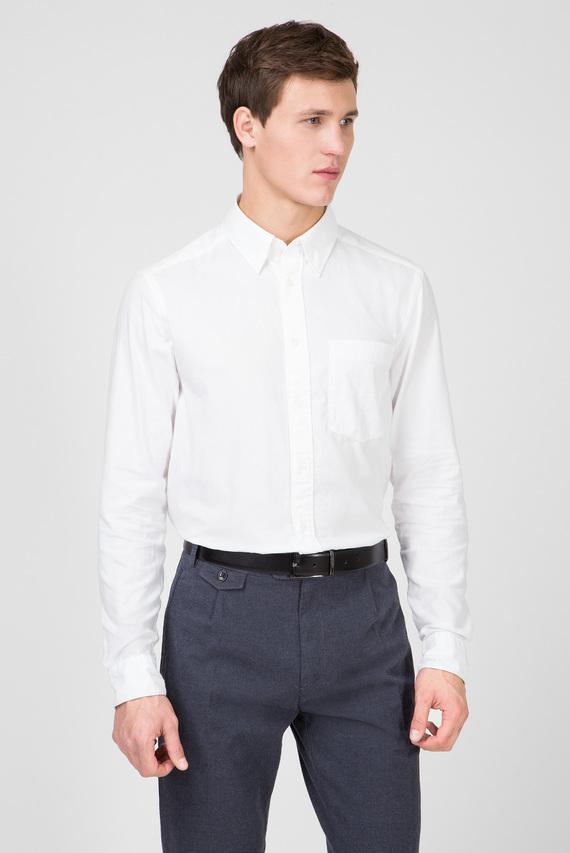 Мужская белая рубашка BRUSHED TWILL