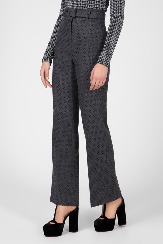 Женские серые брюки ZENDAYA SPOT WOOL HW