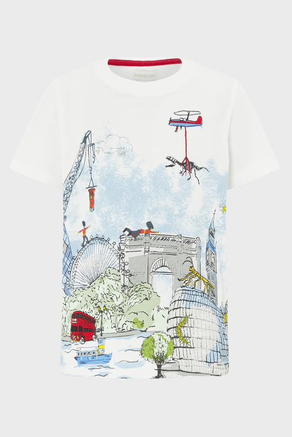 Детская бежевая футболка Louis London Tee