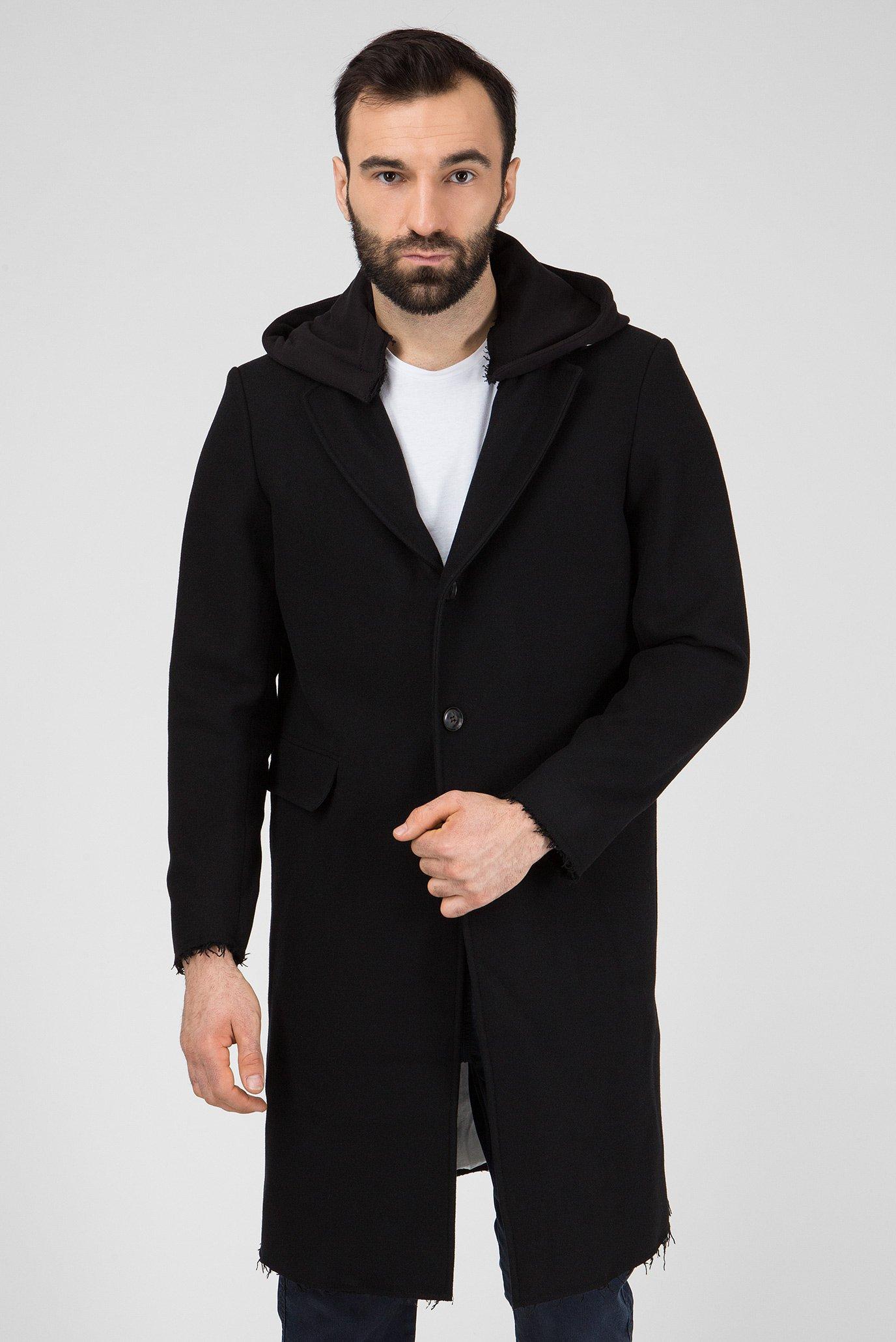Мужское черное пальто W-DEXTER GIACCA Diesel
