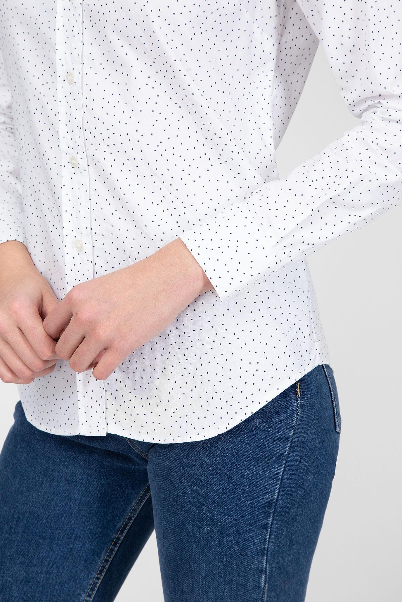 Купить Женская белая рубашка в горошек Gant Gant 4320064 – Киев, Украина. Цены в интернет магазине MD Fashion