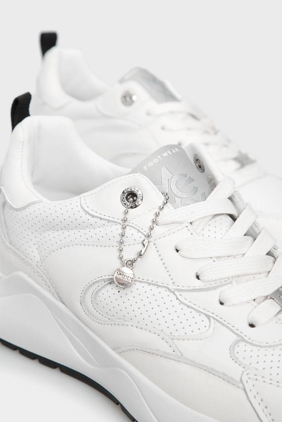 Женские белые кожаные кроссовки Dyonna