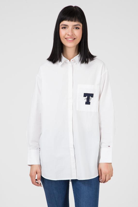 Женская белая рубашка TJW SOLID