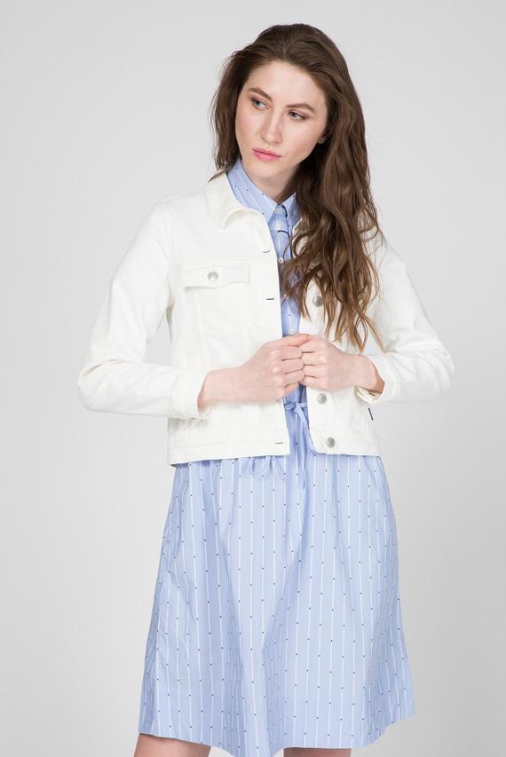 Женская белая джинсовая куртка ECRU