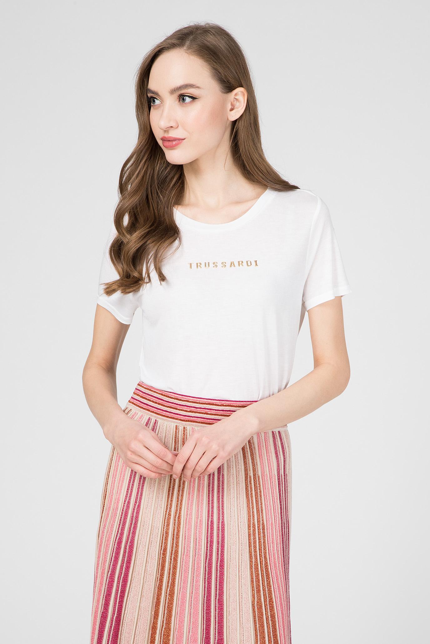 Женская белая футболка REGULAR FIT 1